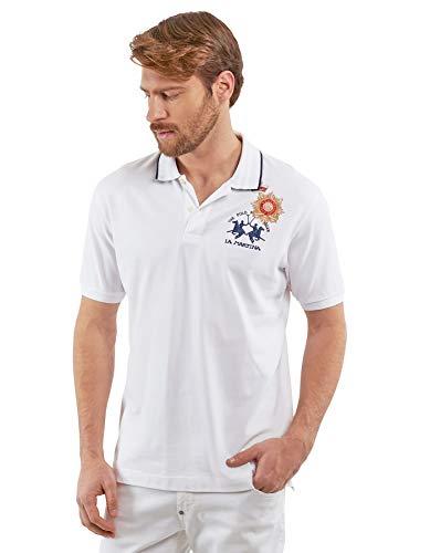 La Martina Herren Pmpg01 Poloshirt, Weiß (Optic White 00001), Large