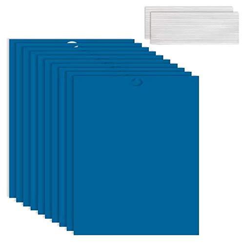 BETOY 30PCS Pièges à Insectes Volants Piège Engluées Colle Double Face Autocollants Bleu Papier Étanche Anti-Insecte pour Jardin Plante Fleur Fruits Protection