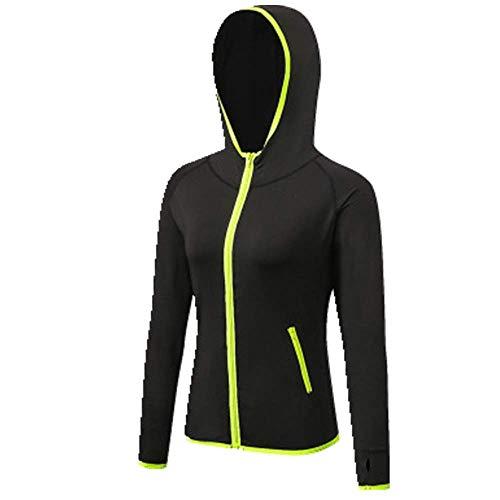 U/A - Abrigo de fitness para mujer, de secado rápido, con capucha, para yoga Verde verde S