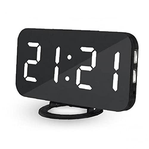 Froiny Número De Reloj De Alarma Luminosa Led Reloj De Voz Control Digital Display Snooze Reloj Electrónico Calendario Dormitorio Despertador del Escritorio