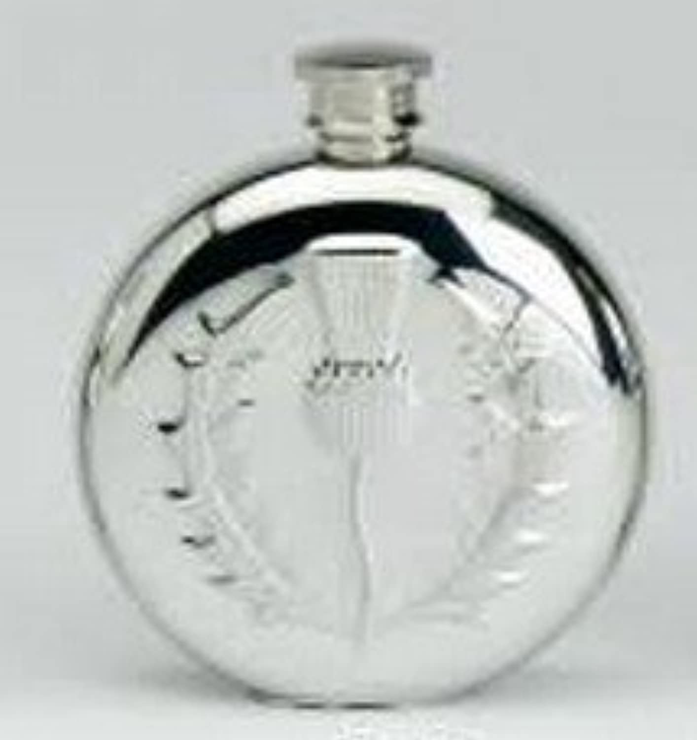 6oz Rd Flask Thistle made from fine English Pewter comes with a prideindetails box ref 31466