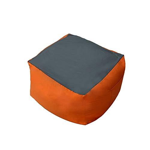 ZYLE Bolsa de Frijoles Multicolores Tatami Lazy Sofá Individual Cómodo Sofá pequeño Dormitorio Sala de Estar Silla Simple y Creativa 63 × 63 cm (Color : Orange)