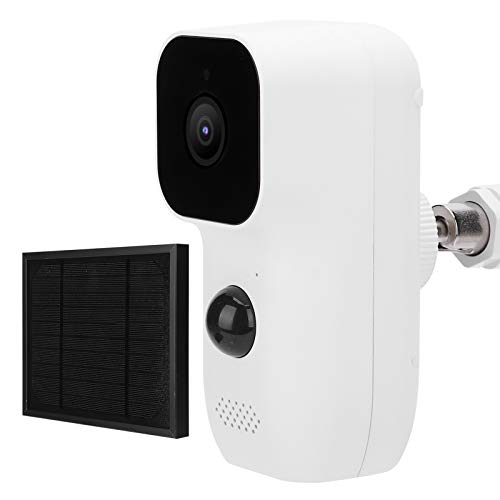 Cámara de seguridad WiFi 1080P, cámara solar impermeable IP65, con visión nocturna con intercomunicador bidireccional, cámara CCTV IR-CUT 1080P con batería, cámara de intercomunicación para exteriores