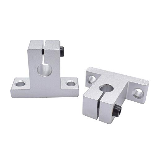 without 2pcs Linear Bearing Rail Shaft Support SK8 SK10 SK12 SK16 SK20 Aluminum Block For XYZ Table CNC Router SH8A SH10A SH12A SH16A (Size : SK16)