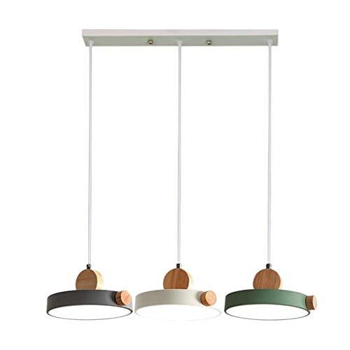 Yxsd I Moderne hanglampen Scandinavische hanglamp 3 lampen hout metaal LED hanglamp hanglamp hanglamp hanglamp hanglamp voor restaurant/tablet/kantoor, Coffee Shop
