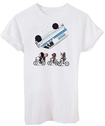iMage T-Shirt Stranger Things Poteri Cinetici - Divertente - Bambino-XL-Bianca