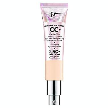 IT Cosmetics Your Skin But Better CC+ Cream Illumination, Light Medium (C) – Color Correcting Cream, Full-Coverage…