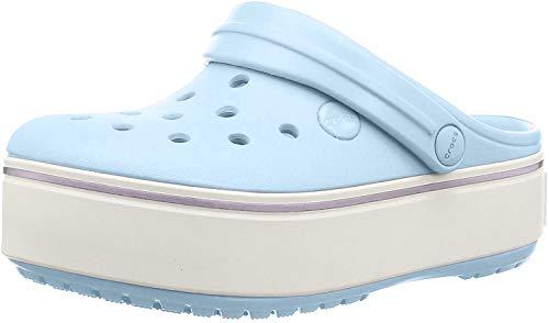 Crocs Unisex-Kinder Crocband Platform Gs K Clogs, Blau (Mineral Blue/Lavender), 32 EU
