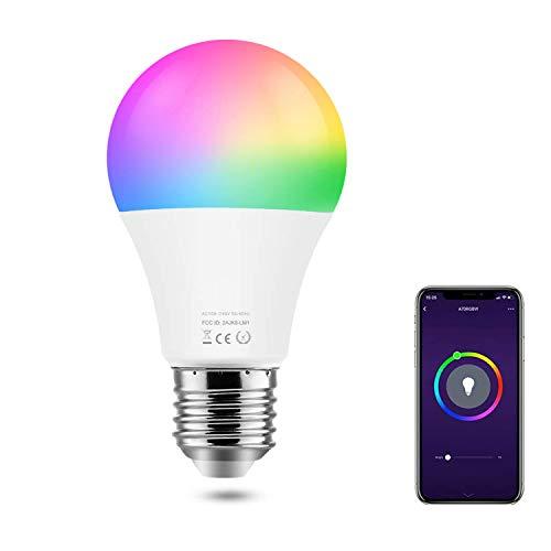SIPAILING smart WLAN LED Lampe E27 9W ersetzt 80 Watt RGB+W 900Lumen dimmbare WLAN Glühbirne via timming-Funktion, ohne Hub benötig, steuerbar via App, Kompatibel mit Alexa Echo Google home