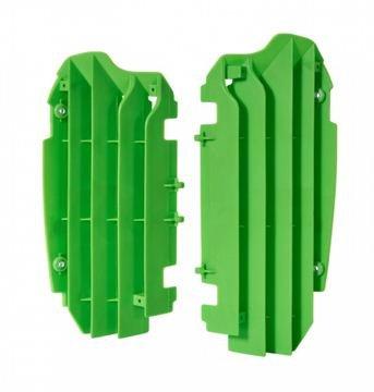 Polisport Coque verte pour radiateur, compatible avec Kawasaki KXF 250 13–15