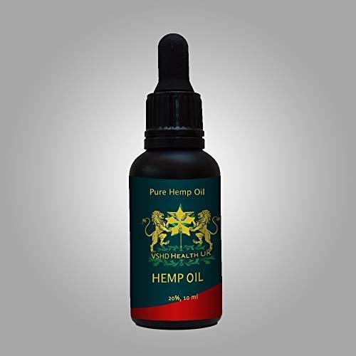 Pure Hemp Oil High Strength 100% Organic Made in UK 2000MG 10ml