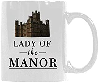 LADY OF THE MANOR Mugs Funny Coffee Mug Drinking Cup Morning Breakfast Drink Ceramic Coffee Cup Gift 11 Ounce