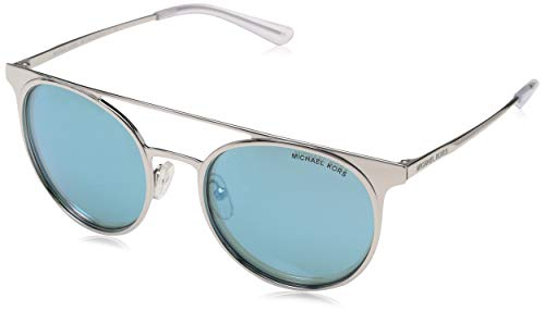 Michael Kors 113725 Gafas de sol, Shiny Silver/Tone, 52 para Mujer