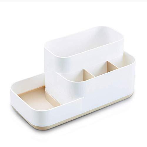 ZTMN Boîte de Rangement cosmétique de Table en Plastique Produits de Soins de la Peau de Rouge à lèvres ménagers Boîte de Finition de Brosse de Maquillage 22,5 * 11,5 * 11 cm (Couleur: B)