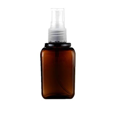 jingxiaopu 80ml Bote Pulverizador Botellas De Viaje PortáTil Atomizador Recargable Botellas De Plastico Espesado MarróN para LíQuidos LocióN BañO Cocina Transparent Nozzle