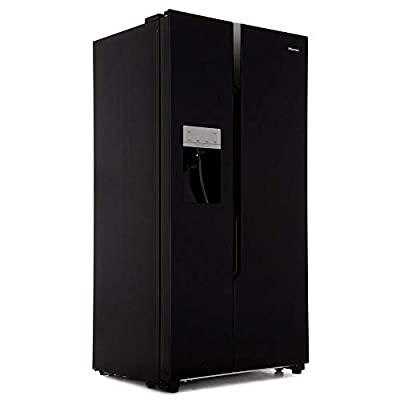 Hisense RS694N4TB1 Side-by-side American Fridge Freezer With Non Plumbed Ice & Water Dispenser - Black