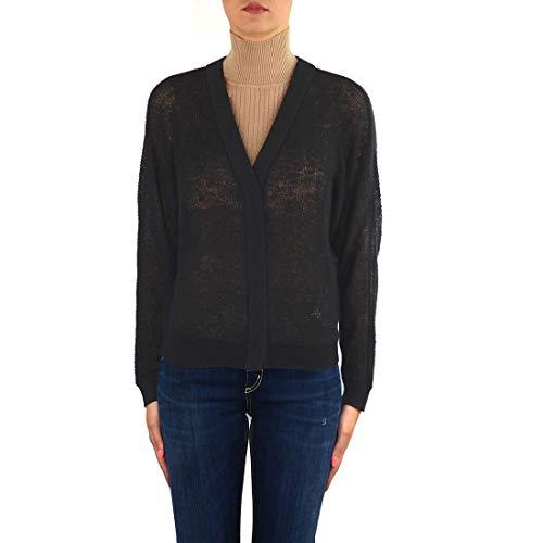 MAX MARA STUDIO Luxury Fashion dames 63460499000033003 zwart gebreide jas | herfst winter 19