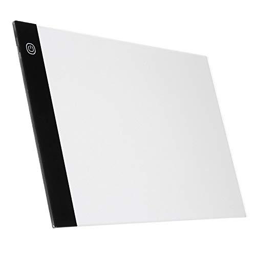 TOOGOO Tableta Gráfica Digital A4 Led Artista Tablero de Dibujo Fino de la Plantilla Del Arte Caja Ligera Tableta de Rastreo Almohadilla