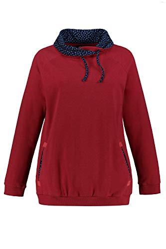 Ulla Popken Damen große Größen Sweatshirt mohn-Melange 50/52 749500 57-50+