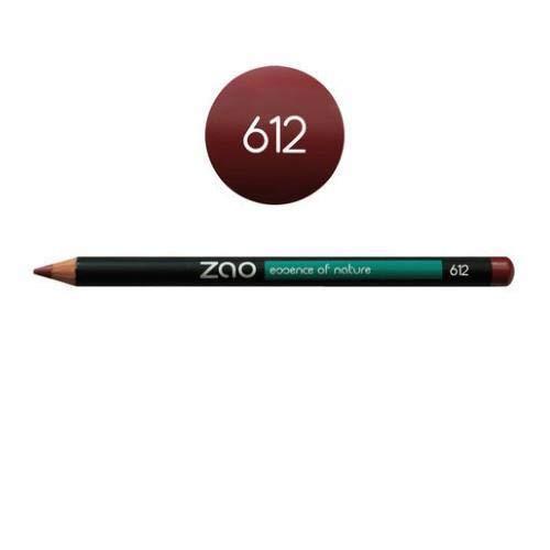 ZAO Holzstift 612 bordeaux weinrot Lipliner Lippenkonturenstift Kajal (bio, vegan) 101612