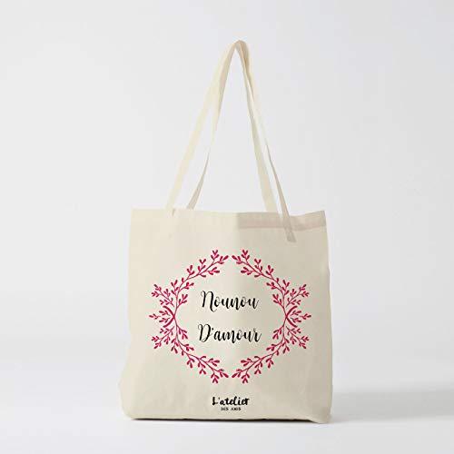 Borsa la nonna Love Tote cotone Nanny Tote borsa fasciatoio borsa borsa in cotone è stata Tote estate borsa cotone
