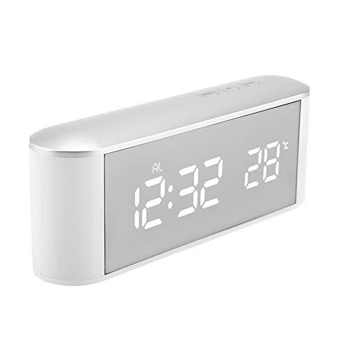 Jadpes Hoofdthermometer-wekker, digitaal LCD-display instrument-spiegel-klok met USB-binnenhuis #3