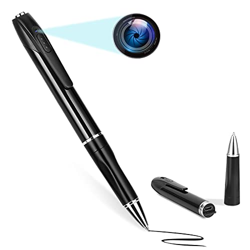 Spy Camera, Hidden Camera with 32GB SD Card, HD 1080P Mini Camera with 150 Minutes Battery Life, Spy Pen Body Camera Mirco Camera for Home and Classroom Learning