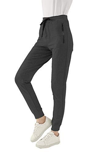 SMENG Jogginghose für Damenbekleidung mit Taschen Plus Size Summer Joggers Color Block Lässige Krawatte Taille Yoga Jogger Wandersporthose Darkgray XS
