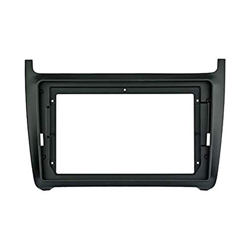 ZXZCV 1/2Din para coche DVD solo marco adaptador de ajuste de audio Dash Trim Facia Panel 2014+ reproductor de radio doble DIN (nombre del color: como foto)