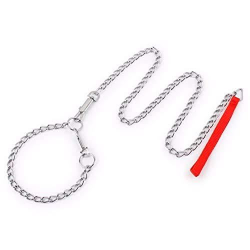 LLLYZZ hondenhalsband en trekkoord voor honden, sterk tegen beten van de hond, ijzer, producten voor huisdieren, honden, accessoires, 120 cm