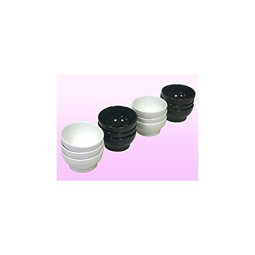 HOME Satz von 6 schwarzen Keramikschalen für Fondue Kelch Becher Eisbecher