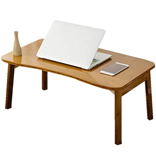 MQJ Mesa Plegable Arc Simple Lazy Mese Bed Tabla Portátil Mesa de Estudio Dormitorio Simple,80 cm