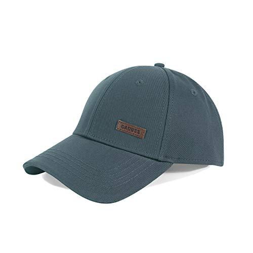 CACUSS Baumwolle Herren Mesh Baseball Cap einstellbar für Draussen Sport oder auf Reisen (B0080_Holzkohle)