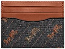 Coach Slim Id Card Case With Horse And Carriage Dot Print