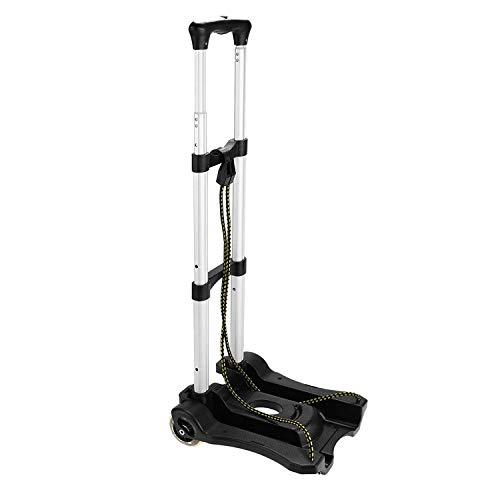 JINKEBIN Carro de equipaje portátil plegable Luminum Camión de mano de viaje ligero/Camiones de mano resistentes (80 libras)