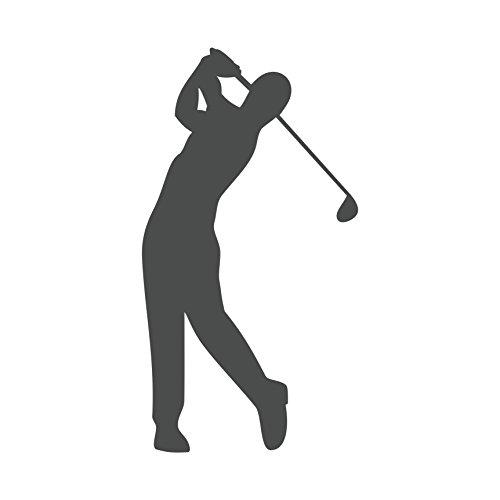 Golfspieler Aufkleber Golfer Golf Sport Autoaufkleber (Dunkelgrau)