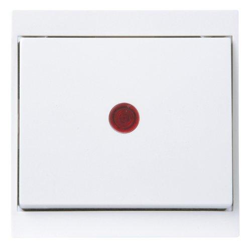 Kopp 621666085 Malta Kontrollschalter (Aus-und Wechsel) mit Linse und eingesetzter Glimmlampe, arktis-weiß