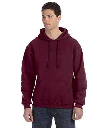 Russell Athletic Men's Dri-Power Pullover Fleece Hoodie, Maroon, Large