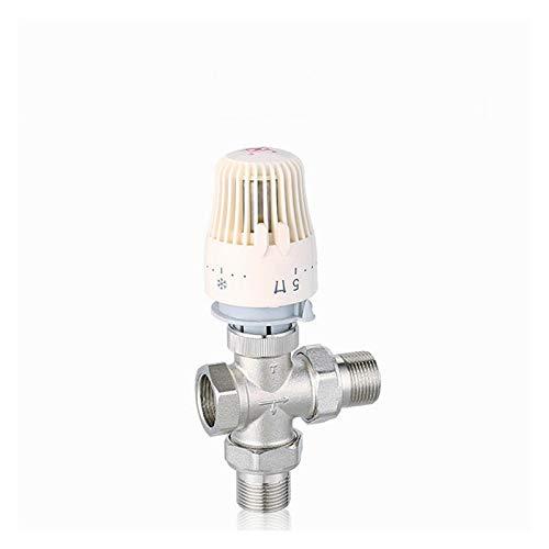 Das elektromagnetische Ventil Thermostat Heizkörper Regelventil 3-Wege-T Typ Messing Wert DN20 DN25 PPR Automatische thermostatische Regelventil-Wasser-Heizung Industriebedarf ( Specification : DN20 )