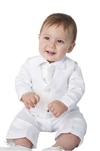 V.C. Baby Taufanzug 4tlg. weiß Babyanzug Festanzug (68)