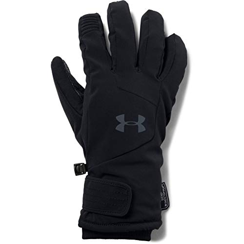 Under Armour 20–Chaqueta cortavientos cold-weather-gloves, hombre, Under Armour Men's Windstopper Glove 20, gris oscuro, Medium