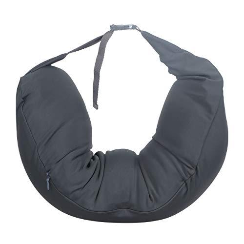 Hemoton Almohada de cuello en forma de U, multifunción, almohada de viaje para el cuello, almohada de viaje en forma de U (gris)