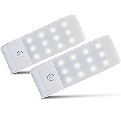 PIR Movimiento & Sensores de luz: 3 modos que son ON / OFF / AUTO,con alta sensibilidad. Cuando se detecta que la gente vendrà por la noche o en un lugar oscuro,se encenderà automàticamente. El rango de detección hasta 10ft/3m,Ángulo de movimiento 12...