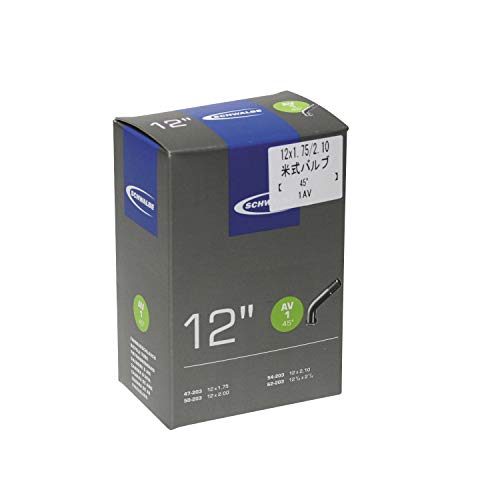 SCHWALBE(シュワルベ) 【正規品】12×1.75/2.10、12 1/2×2 1/4用チューブ 米式 40㎜(45度)バルブ 1AV 45°