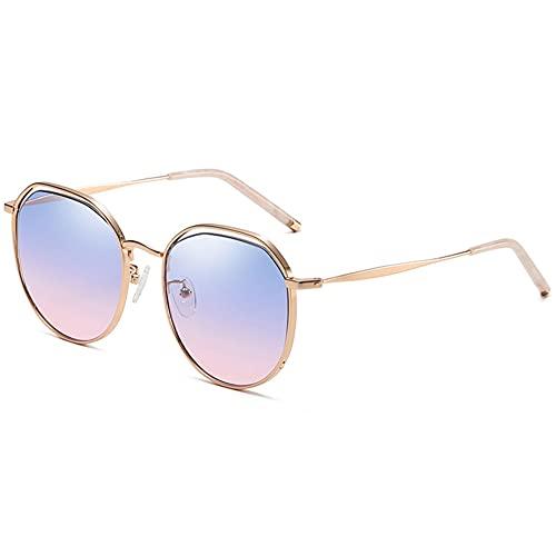 Tendencia Gafas De Sol Huecas De Todo Fósforo Gafas De Sol De Color Degradado Con Montura Grande De Moda Anti-ultravioleta