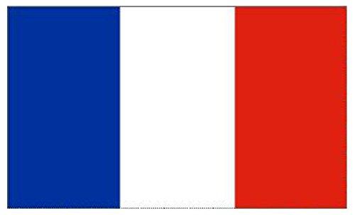 Klicnow - Bandera de Francia (1,5 x 0,9 m, 100% poliéster, doble costura)