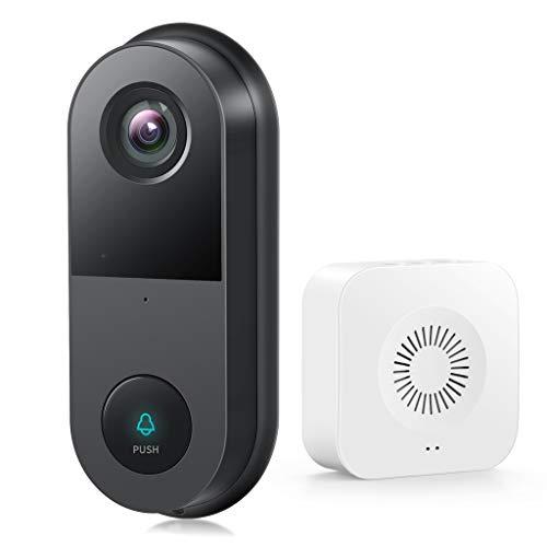 DAGONGREN Greets 2K Video Timbre Cámara Smart WiFi Intercomunicador Visual inalámbrico Visión Nocturna Cámara de Seguridad Monitor de hogar