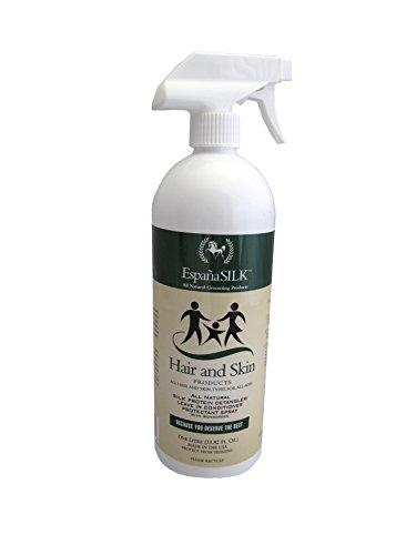 Espana Silk ESP1120P 33.82 oz Protein Detangler Protectant Spray with Sunscreen, 1 L