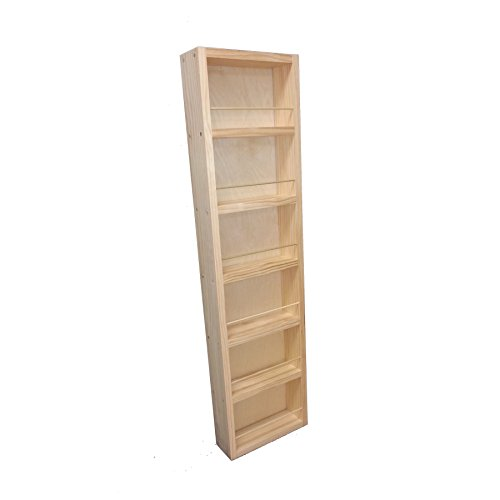 """Wood Cabinets Direct 42"""" Fulton - on The Wall Spice Rack - 14"""" W - 2.5"""" Deep"""