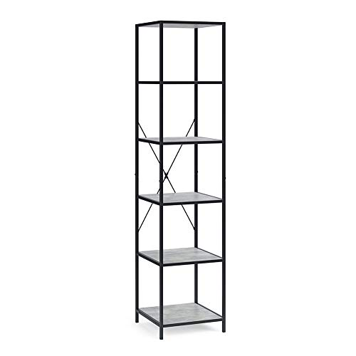 Vicco Loft Standregal Fyrk Bücherregal Wandregal Regal 174x40x40 cm (Beton-Optik)